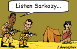 Obama and Sarkozy in Libya